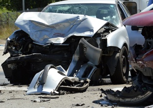 Determining liability in a multi-car accident