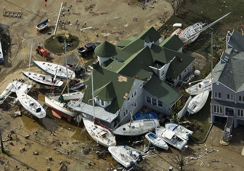 Hurricane Sandy Boat Damage
