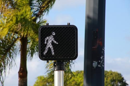 Pedestrian signal in Florida