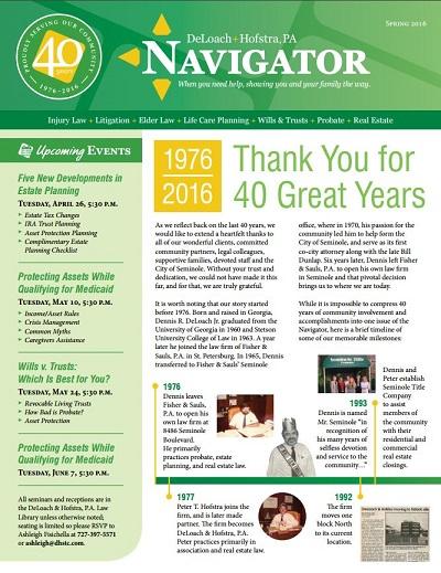 Spring 2016 Navigator Cover