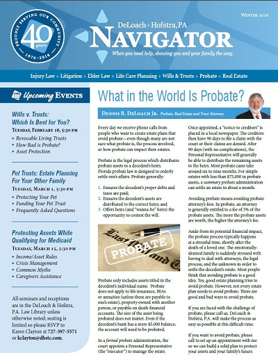 Winter 2016 Navigator Cover
