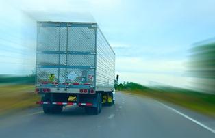 long haul truck on road