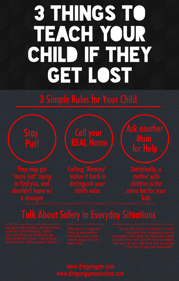 3 Things to teach your child if they get lost