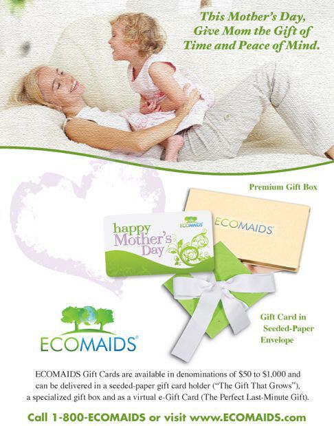 Mother Day Cleaning Services ECOMAIDS