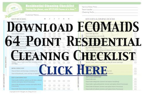 64 Point Residential Cleaning Checklist ECOMAIDS