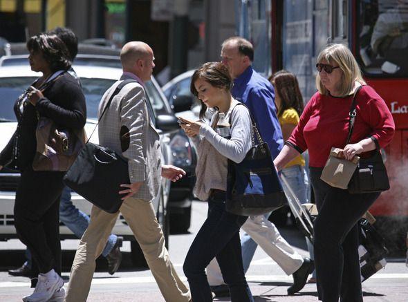 pedestrian texting