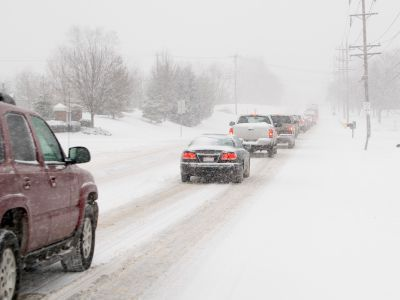 How to stay safe in bad snowy winter weather with crazy drivers on the road