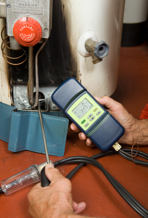 carbon monoxide levels checked on gas furnace