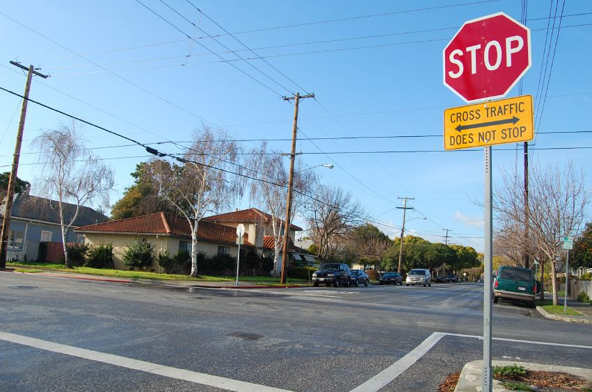 Stop sign intersection