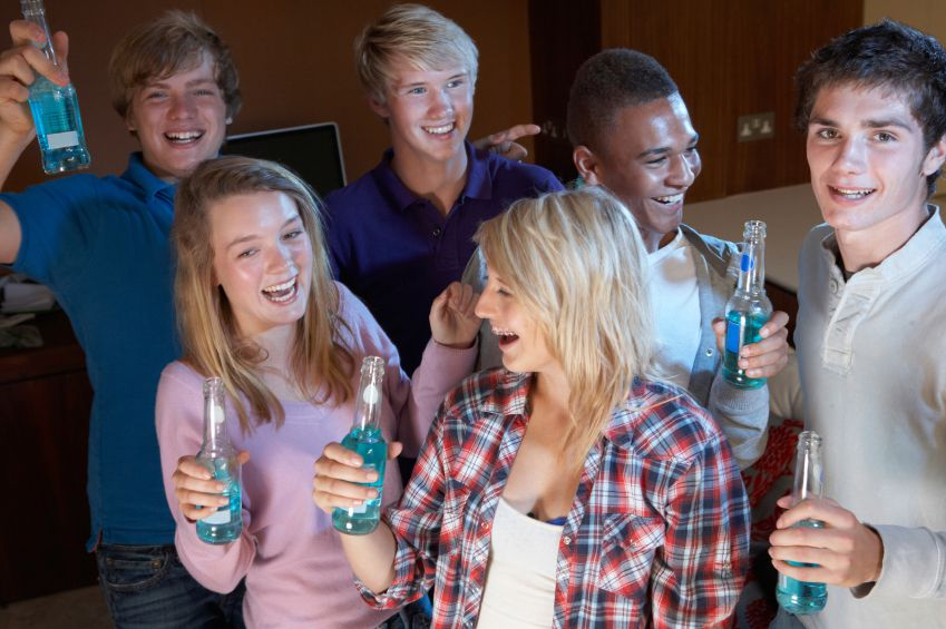 Young adult parties with teens and kids out of school cause increased young adult driving accidents