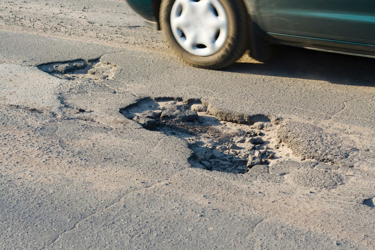 potholes all over New York roads and parkways