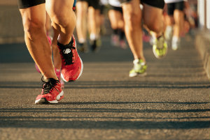 Running can cause heel pain