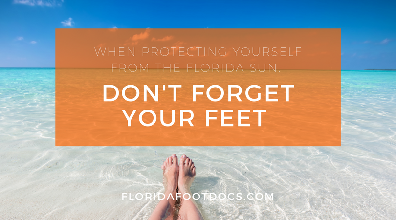 Feet can get skin cancer too.