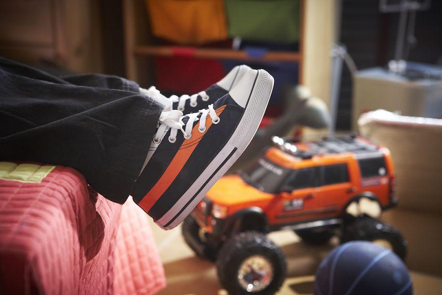 Children's hurting flat feet