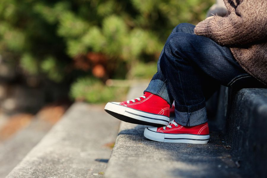Orthotics for children's flat feet