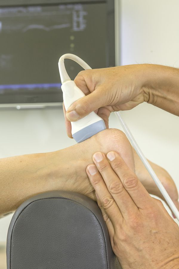 Ultrasound used on feet