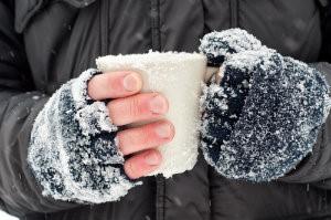 Snowy hands