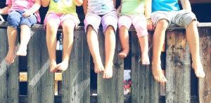 Barefoot children