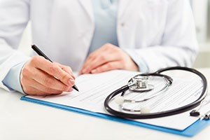 Doctor making referral