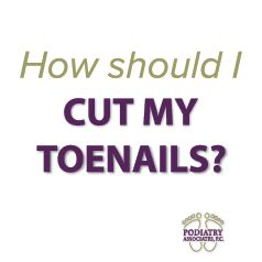 Learn how to properly cut your toenails.