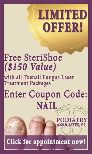 Free offer for a SteriShoe+ when you schedule your appointment.