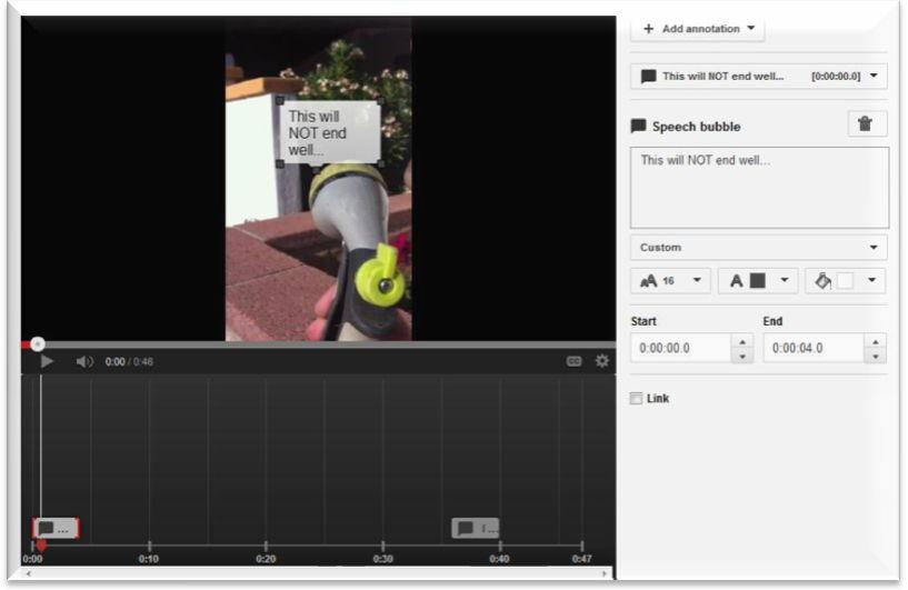 Publish YouTube Annotation