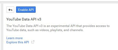 Click the blue button to enable the API