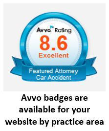 AVVO Badge for Car Accident Attorney