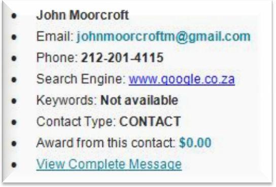 John Moorcock initial contact notice