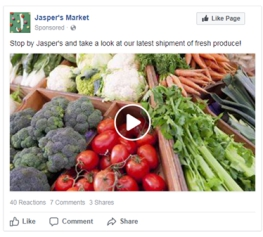 Facebook's single-video advertisement