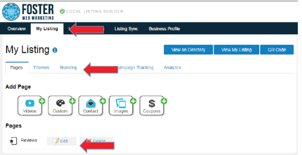 DSS Local Listing Builder Tool My Listings Tab Screenshot