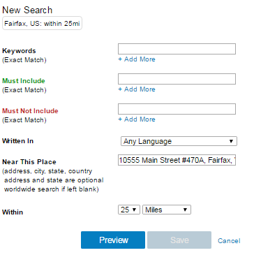 DSS Social Media Management Tool Leads Tab Screenshot