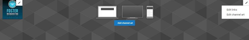 Add art and links to customize your YouTube channel.