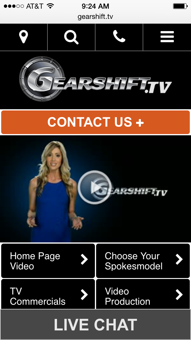 Gearshift Studios Mobile Website
