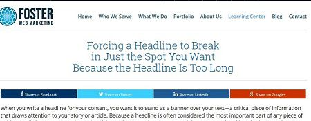 Multiple break codes allow you to display complex headlines attractively