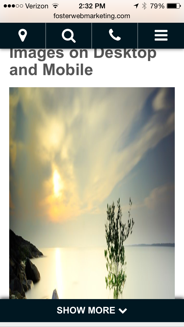 Example: Large Mobile Image