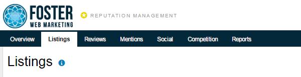 Listings Tab Screenshot