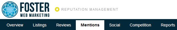 Reputation Management Mentions Tab Screenshot