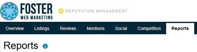 Reputation Management Reports Tab Screenshot