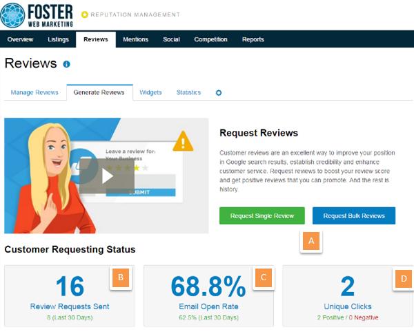 Reputation Management Review Generate Reviews Screenshot