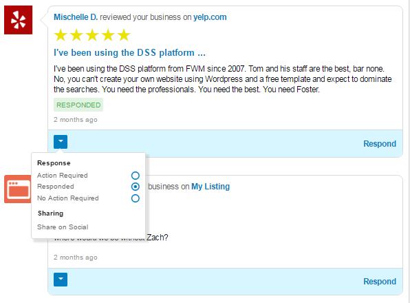 Reputation Management Review Response Screenshort