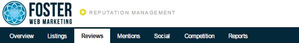 Reputation Management Reviews Tab Screenshot