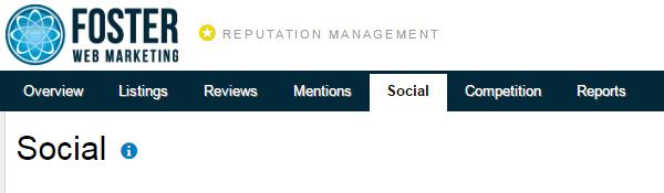 Reputation Management Social Tab Screenshot