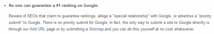 There is no 'priority submit' to Google.