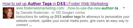Search result for how to setup author tags in DSS