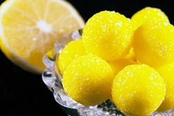 Sour Lemon Candy Covered in Sugar