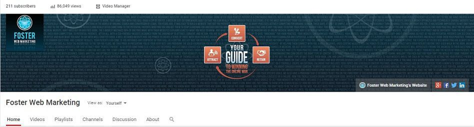 Your YouTube account is ready for you to add exciting video content.