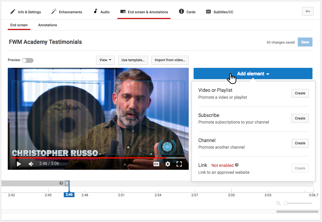 Pick YouTube Annotation