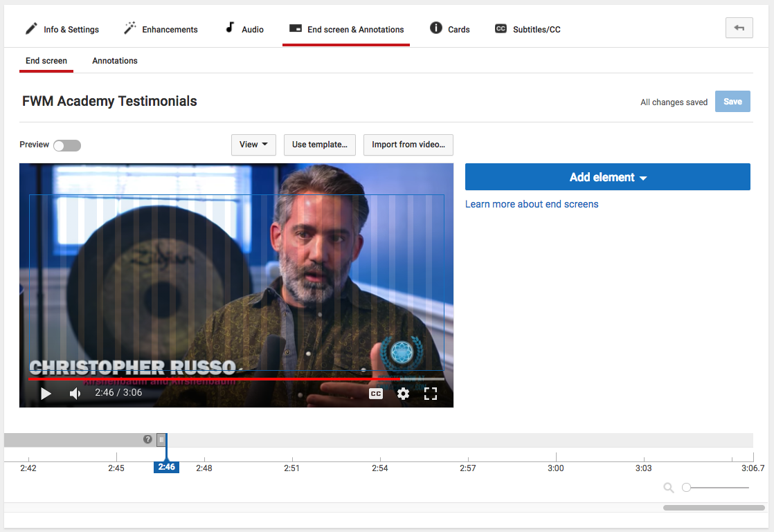 Annotate YouTube Video