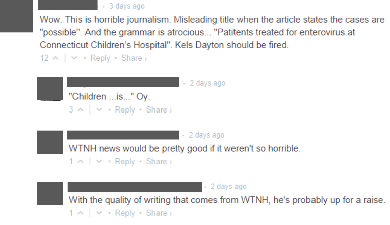 Criticism of Children's Hospital Post